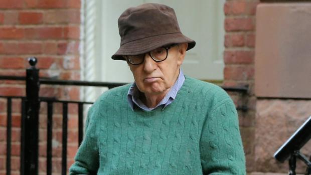 Woody Allen, en un descanso del rodaje de su último filme