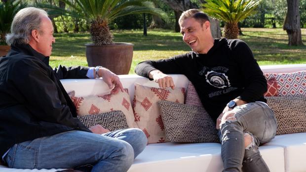 Bertín Osborne y Joaquín, en «Mi casa es la tuya»