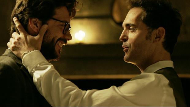 El Profesor (Álvaro Morte) y Berlín (Pedro Alonso), en «La casa de papel»