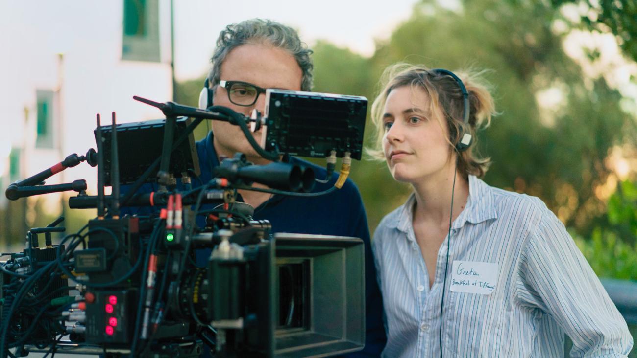 Greta Gerwig, directora de «Lady Bird», en plena acción