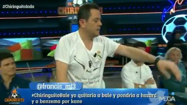 Tomás Roncero pierde los nervios en «El Chiringuito de Jugones»