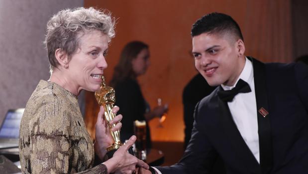 Frances McDormand y su hijo Pedro McDormand Coen
