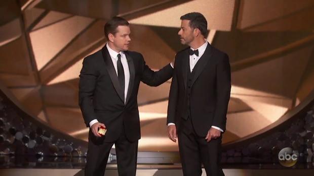 Jimmy Kimmel y Matt Damon en la pasada edición de los Oscar
