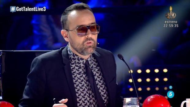 Risto Mejide en un momento de la gala de Got Talent
