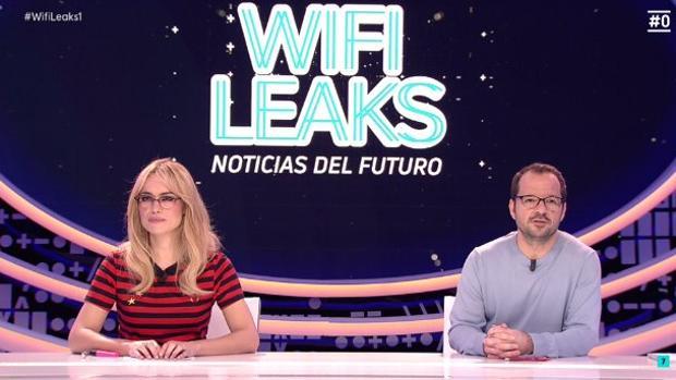 Patricia Conde y Ángel Martín, en el plató de «WifiLeaks»