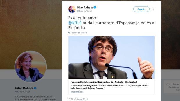 Pilar Rahola gafa la huida de Puigdemont, y la Policía alemana lo detiene