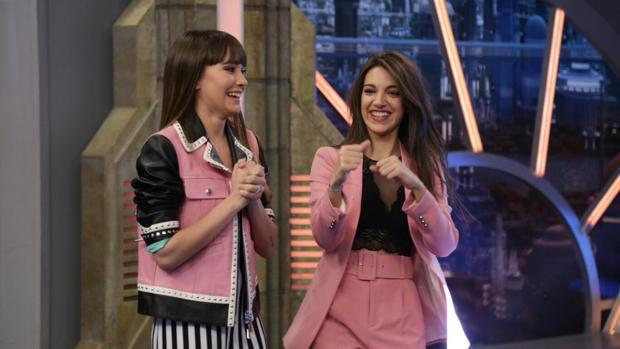 Aitana y Ana Guerra, en el plató de «El Hormiguero»
