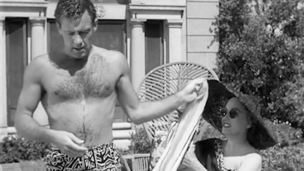 Vídeo: La vida de William Holden   Foto: William Holden y Gloria Swanson en «El crepúsculo de los dioses»