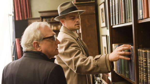 Martin Scorsese, junto a Leonardo DiCaprio en «Shutter Island»