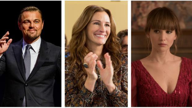 Leonardo DiCaprio, Julia Roberts y Jennifer Lawrence