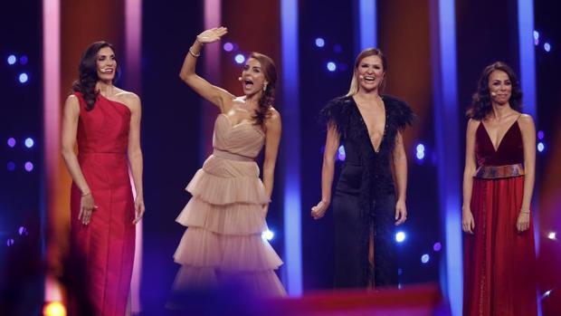 Las presentadoras de Eurovisión 2018: Daniela Ruah, Sílvia Alberto, Filomena Cautela y Catarina Furtado