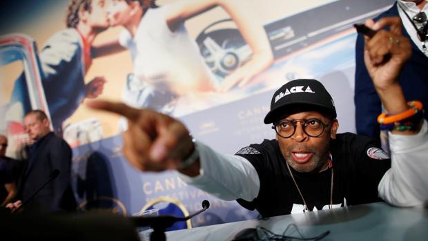 Spike Lee, durante la rueda de prensa en Cannes