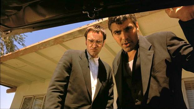 Quentin Tarantino y George Clooney, en «Abierto hasta el amanecer»