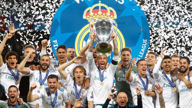 El MAdrid celebra su champions número 13