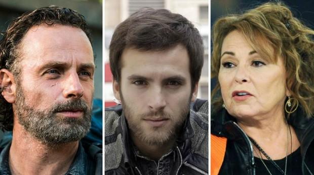 De izquierda a derecha: Rick Grimes, Carlos Alcántara y Roseanne