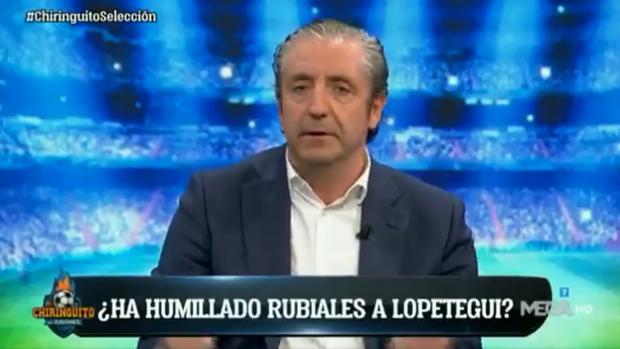 Josep Pedrerol, en el último programa de «El chiringuito»