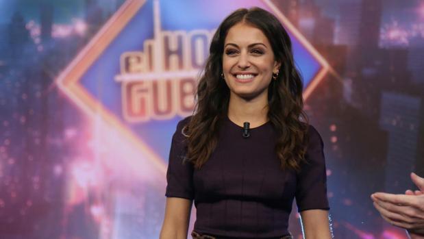 Hiba Abouk, en el plató de «El Hormiguero»