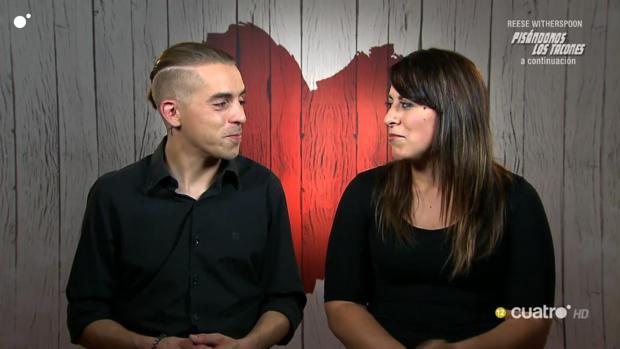 José y Ángela durante su cita en First Dates