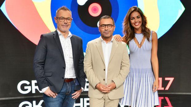 Jordi González, Jorge Javier Vázquez y Lara Álvarez, en la presentación de «Gran Hermano 2017»