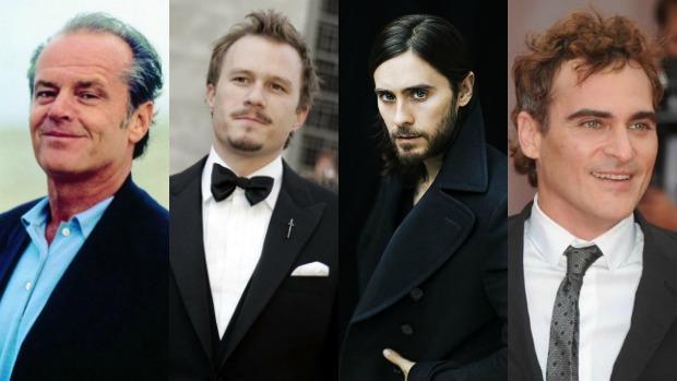 Jack Nicholson, Heath Ledger, Jared Leto y Joaquin Phoenix (de izquierda a derecha)