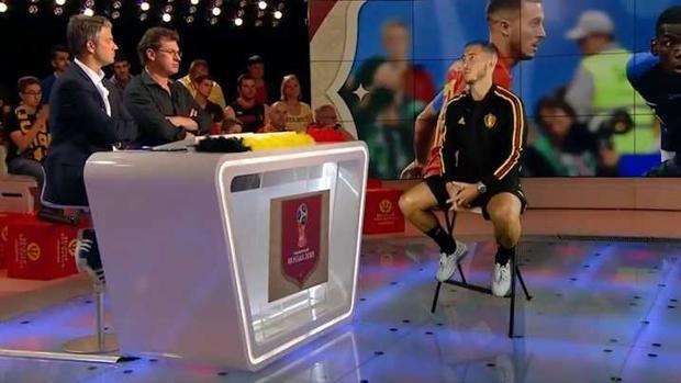 Eden Hazard en su entrevista en televisión