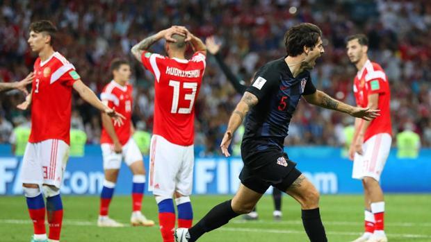 Imagen de uno de los partidos disputados durante el Mundial de Rusia 2018