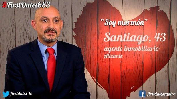 Santiago no entendió muy bien el juego de palabras que le hizo Carlos Sobera al llegar a «First Dates»