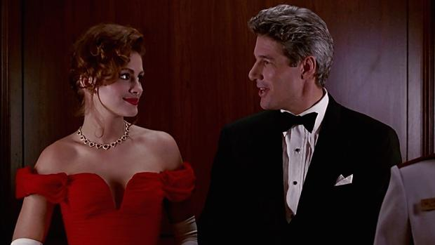 Julia Roberts junto a Richard Gere en «Pretty Woman»