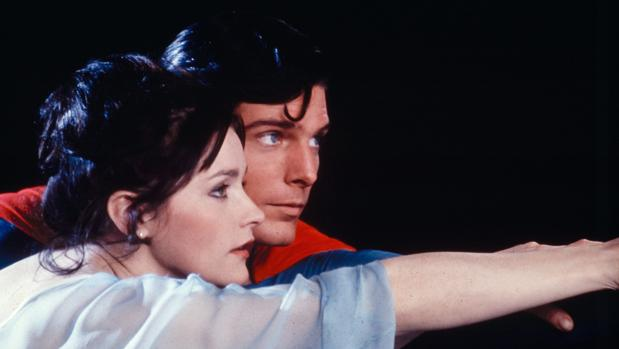 Margot Kidder y Christopher Reeve en «Superman»