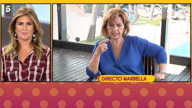Carlota Corredera habla con María Teresa Campos en «Sálvame»