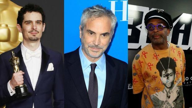 Damien Chazelle, Alfonso Cuarón y Spike Lee