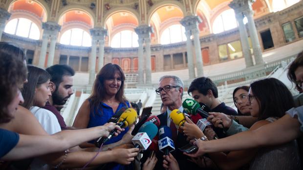 El ministro de Cultura, José Guirao, en una reciente intervención ante los mediso en el Museo Nacional de Arte De Cataluña