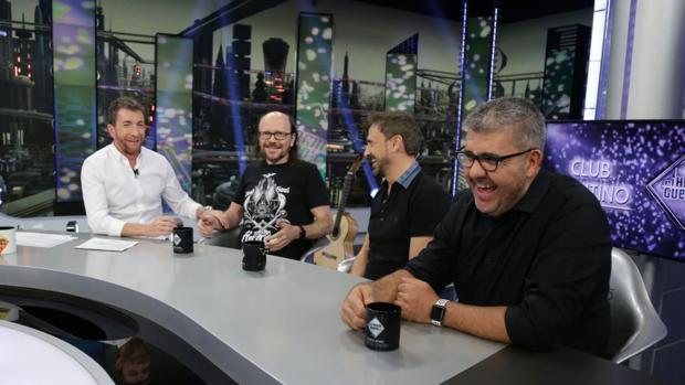 Pablo Motos, junto a Segura, José Mota y Florentino Fernández