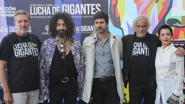 Emilio Aragón, Ara Malikian, Hernán Zin y Carlos Vega