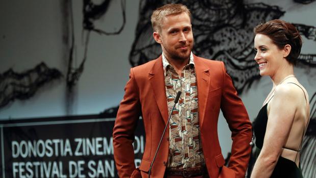 Ryan Gosling y Claire Foy, en San Sebastián