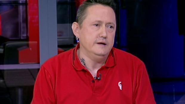 Fermín Muguruza, durante la entrevista en TVE