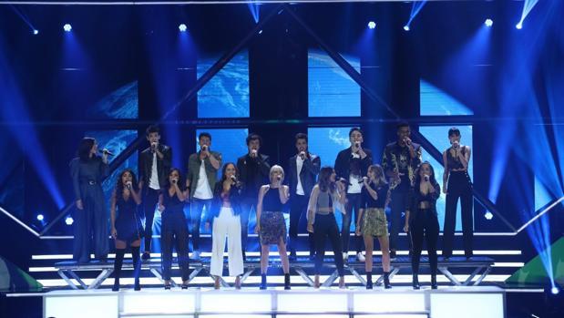Los aspirantes de «OT 2018» cantan «Viva la vida», de Coldplay