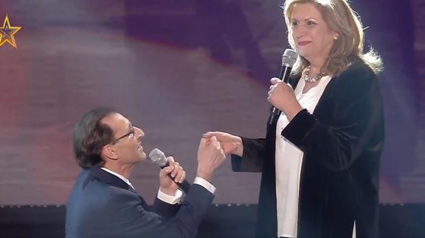 Antolín, declarándose a María en «Got Talent»