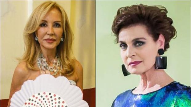 A la izquierda, Carmen Lomana. Y a la derecha, Antonia Dell'Atte