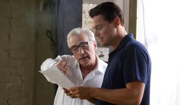 Martin Scorsese y Leonardo DiCaprio, en el rodaje de «El lobo de Wall Street»