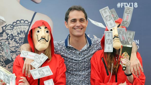 Pedro Alonso, durante la presentación de «La casa de papel» en Montecarlo