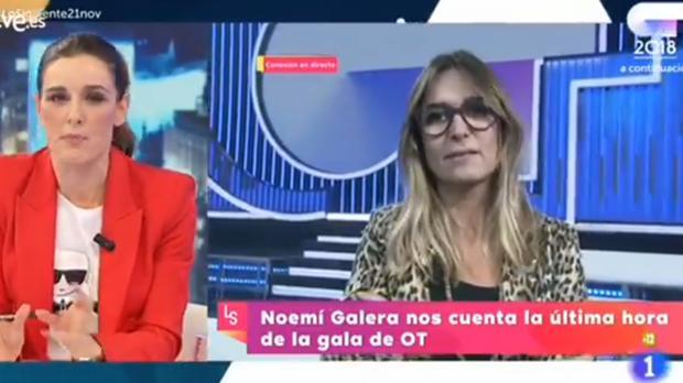 Noemí Galera, junto a Raquel Sánchez Silva en «Lo siguiente»