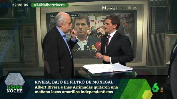 Ferrán Monegal y Albert Rivera, en «La Sexta Noche»