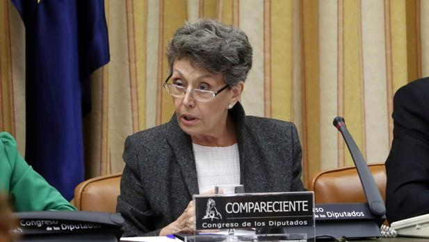 Rosa María Mateo, en una sesión reciente en el Congreso