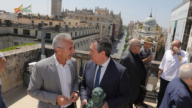 Fotografía tomada durante la presentación de la 33 edición de los Premios Goya en Sevilla