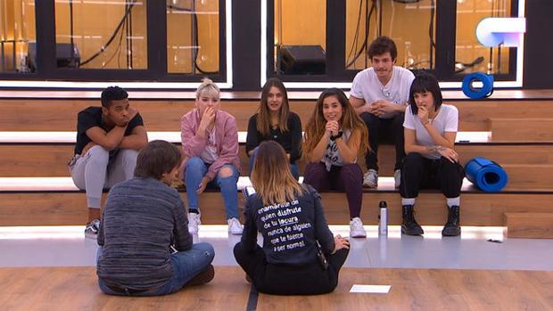Los concursantes de la Academia en el momento del reparto de temas preseleccionados para Eurovisión 2019