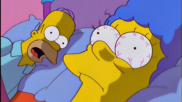 Homer y Marge en «Los Simpson»