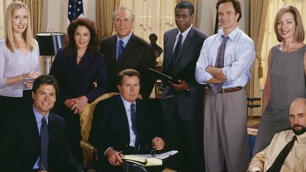 Imagen del reparto de «El ala oeste de la Casa Blanca»