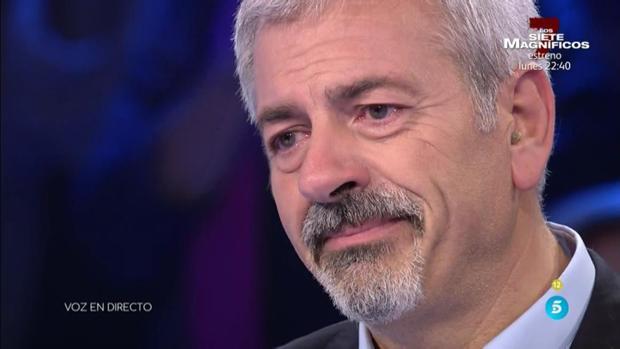 Carlos Sobera rompe a llorar este viernes en «Volverte a ver»