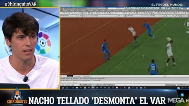 Nacho Tellado, el pasado septiembre, en una de sus últimas apariciones en «El chiringuito»